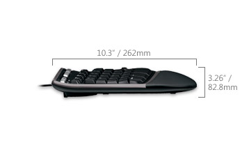 Natural Ergo Keyboard 4000 side dimensions