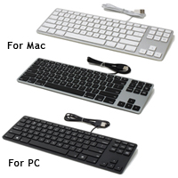 keyboards wired aluminum tenkeyless keyboard. Black Bedroom Furniture Sets. Home Design Ideas