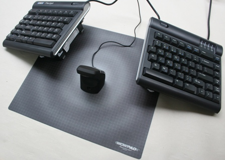 DXT Ergonomic Precision Mouse to the center of a Freestyle Keyboard (with V3 attachment)