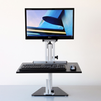 Kangaroo Pro Junior Free Standing Adjustable Height Desk Unit